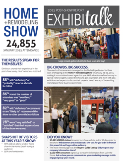Home + Remodeling Show 2015 Post-Show Report